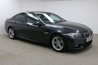 USED 2014 63 BMW 5 SERIES 2.0 520D M SPORT 4d 181 BHP FINISHED IN A BRILLIANT METALLIC GREY + FULL LEATHER INTERIOR  + SAT-NAV + FSH + PARKING SENSORS + FULL BMW SERVICE HISTROY + BMW INDIVIDUAL OPTIONS