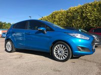 USED 2015 15 FORD FIESTA 1.0 TITANIUM 5d IN CANDY BLUE WITH PRIVACY GLASS  NO DEPOSIT  FINANCE ARRANGED, APPLY HERE NOW