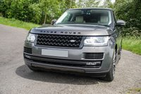 USED 2015 65 LAND ROVER RANGE ROVER 4.4 SDV8 AUTOBIOGRAPHY 5d AUTO 339 BHP Tempest Grey / Full Ivory Leather Heated / Chilled Electric Memory Seats with Contrast Espresso Stitch and Winged Headrests + Autobiography Embossed, Panoramic Sliding Glass Sunroof, HDD Satellite Navigation + Dual View Touch Screen + Digital TV Tuner + Bluetooth Connectivity + Meridian Premium Surround Sound + DAB Radio , Front and Rear Park Distance Control + 360 Cameras, Automatic Xenon Headlights with LED Signature and High Beam Assist, 22 Inch Polished Style 7 Alloy Wheels + Tyre Pressure M