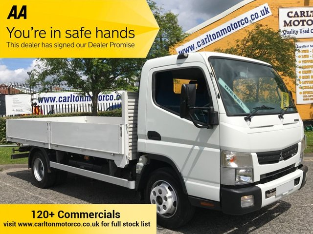 2013 13 MITSUBISHI FUSO CANTER 7C15 DROPSIDE [ LOW MILEAGE ] 14ft  Alloy Body A/CON
