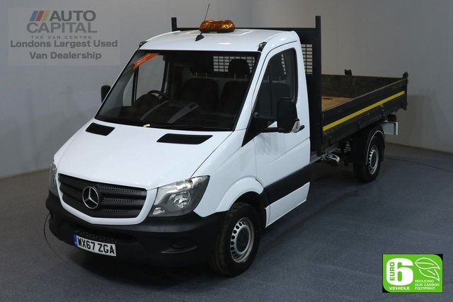 2017 67 MERCEDES-BENZ SPRINTER 2.1 314CDI MWB 140 BHP EURO 6 ENGINE TIPPER MANUFACTURER WARRANTY UNTIL 13/09/2020