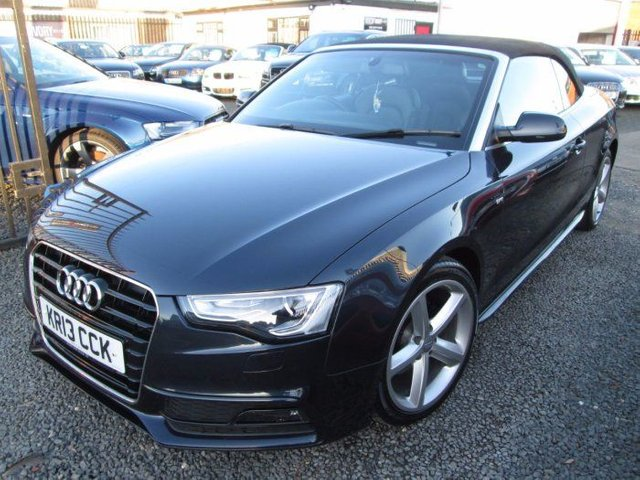 2013 AUDI A5 2.0 TDI 177 S LINE 2DR CABRIOLET + BLACK LEATHER + FULL SERVICE HISTORY