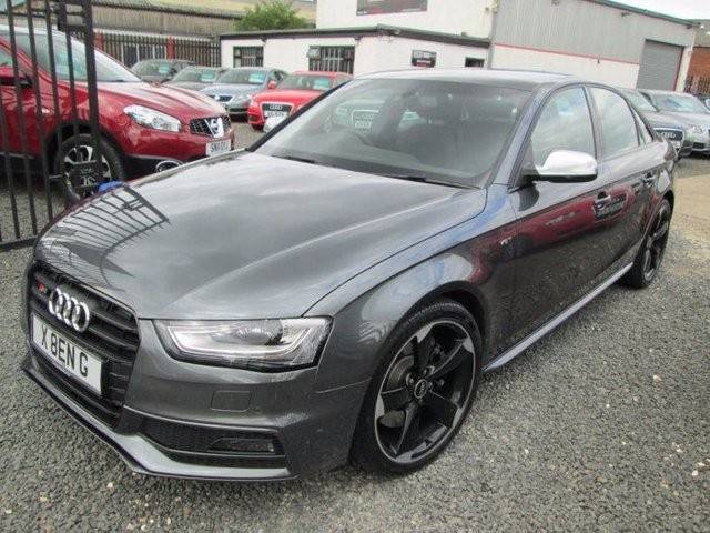2015 AUDI A4  3.0 S4 QUATTRO 4DR S TRONIC BLACK EDITION + SATNAV + AUDI DRIVE SELECT + B&O SOUND SYSTEM + 19