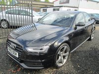USED 2013 13 AUDI A4 2.0 TDI 177 S LINE BLACK EDITION 4DR + 1 OWNER + FULL AUDI SERVICE HISTORY