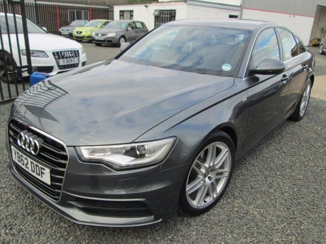 2013 AUDI A6 2.0 TDI S LINE 4DR MULTITRONIC + BLACK LEATHER + NAVIAGTION + FSH