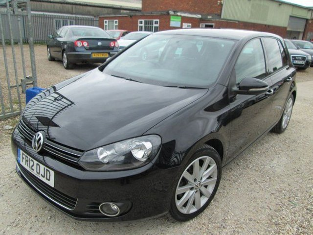 2012 12 VOLKSWAGEN GOLF 2.0 TDI 140 GT 5DR + FULL BLACK HEATED LEATHER + FULL SERVICE HISTORY