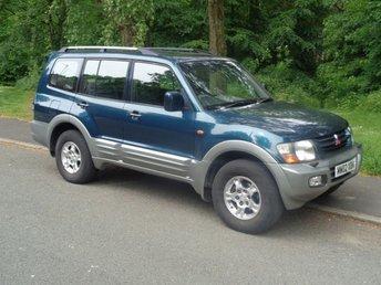2002 MITSUBISHI SHOGUN 3.2 EQUIPPE TD LWB DI-D 5d AUTO 163 BHP £2295.00