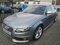 USED 2009 AUDI A4 3.0 S4 TFSI QUATTRO 4DR S TRONIC + BLACK LEATHER + FULL SERVICE HISTORY