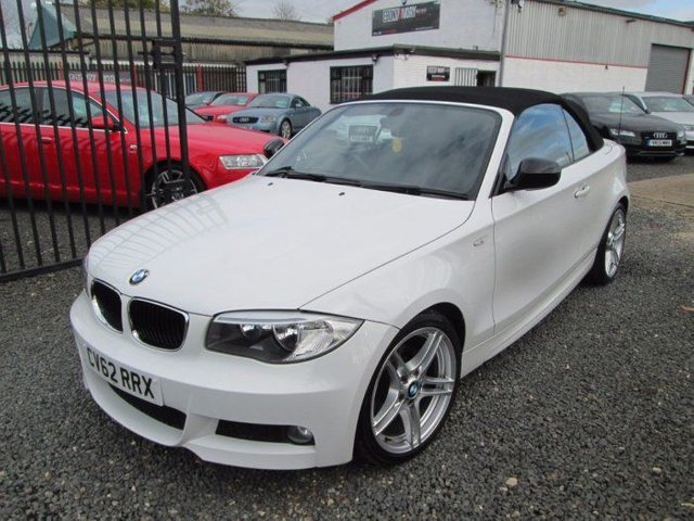 2012 62 BMW 1 SERIES 2.0 118D SPORT PLUS EDITION 2DR CONVERTIBLE + BLACK LEATHER + FULL SERVICE HISTORY