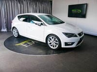 USED 2014 64 SEAT LEON 2.0 TDI FR TECHNOLOGY 5d 184 BHP £0 DEPOSIT FINANCE AVAILABLE, AIR CONDITIONING, AUX INPUT, BLUETOOTH CONNECTIVITY, CLIMATE CONTROL, CRUISE CONTROL, DAB RADIO, DRIVE PERFORMANCE CONTROL, PARKING SENSORS, PRIVACY GLASS, SATELLITE NAVIGATION, START/STOP SYSTEM, STEERING WHEEL CONTROL, TOUCH SCREEN HEAD UNIT, USB INPUT TRIP COMPUTER,