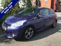 USED 2013 13 PEUGEOT 208 1.2 INTUITIVE 3d 82 BHP Only £20 Road Tax with Satellite Navigation