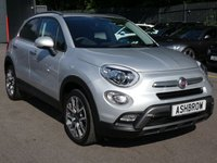USED 2016 16 FIAT 500X 1.4 MULTIAIR CROSS PLUS 5d 140 S/S SAT NAV, BLUETOOTH PHONE & AUDI STREAMING, CRUISE CONTROL, REAR PARKING SENSORS WITH DISPLAY, PRIVACY GLASS, POWER FOLDING MIRRORS, 18 INCH ALLOY WHEELS, BLACK ½ LEATHER INTERIOR, KEYLESS ENTRY & START, AUX & USB INPUTS, MANUAL 6 SPEED, START STOP TECHNOLOGY, ROOF RAILS, LEATHER MULTIFUNCTION FLAT BOTTOM STEERING WHEEL, LIGHT & RAIN SENSORS WITH AUTO DIMMING REAR VIEW MIRROR, DUAL ZONE CLIMATE CONTROL, LEATHER FRONT ARM REST, ILLUMINATING VANITY MIRRORS, DRIVING MODE SELECTION