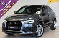 USED 2015 15 AUDI Q3 2.0 TDI QUATTRO S LINE PLUS 5d 148 BHP SAT NAV, HEATED SEATS, CRUISE, ELECTRIC BOOT OPEN AND CLOSE, SENSORS FRONT AND REAR, FULL AUDI SERVICE RECORD