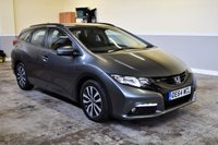 USED 2014 64 HONDA CIVIC 1.6 I-DTEC SE PLUS TOURER 5d 118 BHP 2014 Honda Civic 1.6 i-DTEC Tourer in metallic grey with 61k miles and FSH! Finance available & PX welcome!
