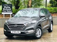 USED 2018 18 HYUNDAI TUCSON 1.7 CRDI S BLUE DRIVE 5d 114 BHP Balance of Hyundai 5 Year Warranty, Bluetooth, DAB radio