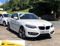 2014 BMW 2 SERIES 2.0 218D SPORT 2d 141 BHP £10995.00