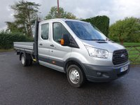 USED 2016 66 FORD TRANSIT 350  LWB DOUBLE CAB DROPSIDE DRW 2.2 TDCI 125 BHP One Company Owner With Only 10000 Miles & Ford Warranty Till March 21