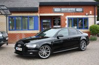 USED 2015 15 AUDI A4 2.0 TDI BLACK EDITION NAV 4d 187 BHP 2 owners full Audi service history! Navigation! Heated seats!