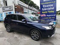 USED 2015 65 MITSUBISHI OUTLANDER 2.3 DI-D GX 3 5d 147 BHP, ONLY 43000 MILES, Full Leather, 7 Seater ***APPROVED DEALER FOR CAR FINANCE247 AND ZUT0  ***