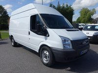 USED 2013 63 FORD TRANSIT 350 LWB HIGHTOP 2.2 TDCI 125 BHP Direct From Leasing Company With Full Service History (5 Stamps to 75k) Popular 125Ps Engine Model With Air Con!