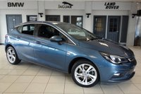 USED 2016 65 VAUXHALL ASTRA 1.6 SRI CDTI S/S 5d 134 BHP FINISHED IN STUNNING AEGEAN BLUE WITH ANTHRACITE CLOTH SEATS + BLUETOOTH WITH MEDIA + DAB RADIO + 1 OWNER + £20 ROAD TAX + APPLE CAR PLAY/ANDROID AUTO + LED DAYTIME LIGHTS + CRUISE CONTROL + AIR CONDITIONING