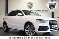 "USED 2016 16 AUDI Q3 2.0 TDI QUATTRO S LINE PLUS 5DR 148 BHP full service history *NO ADMIN FEES* FINISHED IN STUNNING WHITE WITH HALF BLACK LEATHER INTERIOR + FULL SERVICE HISTORY + BLUETOOTH + DAB RADIO + CRUISE CONTROL + CLIMATE CONTROL + HEATED MIRRORS + USB/AUX PORT + PARKING SENSORS + 19"" ALLOY WHEELS"