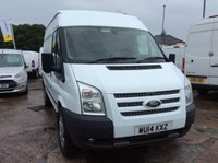 USED 2014 14 FORD TRANSIT MWB 2.2 350 TREND 124 BHP 1 OWNER FSH NEW MOT AIR CON RACKING SAT NAV FREE 6 MONTH AA WARRANTY INCLUDING RECOVERY AND ASSIST EURO 5 AIR CONDITIONING RACKING SATELLITE NAVIGATION CRUISE CONTROL ELECTRIC WINDOWS AND MIRRORS SPARE KEY 6 SPEED BACK STEP