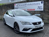 USED 2018 67 SEAT LEON 2.0 TDI FR TITANIUM TECHNOLOGY 3d 148 BHP 1 OWNER+FULL SERVICE HISTORY+SATELLITE NAVIGATION+FINANCE AVAILABLE