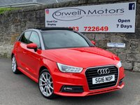 USED 2016 16 AUDI A1 1.6 SPORTBACK TDI S LINE 5d 114 BHP PANORAMIC GLASS ROOF+SATELLITE NAVIGATION+1 OWNER FROM NEW