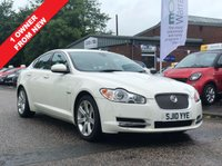 USED 2010 10 JAGUAR XF 3.0 V6 LUXURY 4d AUTO 240 BHP NAVIGATION SYSTEM *   BLUETOOTH *  1 OWNER FROM NEW *   LEATHER TRIM *  PARKING AID *  FULL YEAR MOT *