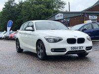 USED 2014 64 BMW 1 SERIES 2.0 116D SPORT 5d AUTO 114 BHP BLUETOOTH +   17 INCH ALLOYS WHEELS +  2 KEYS *  2 PREVIOUS KEEPERS *  MOT APRIL 2020 *