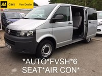 2012 VOLKSWAGEN TRANSPORTER Kombi 6 Seat 2.0 T30 TDI AUTO 140 BHP *FVSH*NO VAT* £13995.00