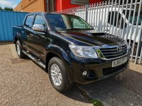 USED 2015 65 TOYOTA HI-LUX 3.0 INVINCIBLE 4X4 D-4D DOUBLE CAB AUTO *LEATHER + SAT NAV* ONE OWNER - LEATHER - SAT NAV - ONLY 27000 MILES