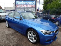 USED 2017 66 BMW 3 SERIES 3.0 330D M SPORT 4d AUTO 255 BHP BIG SPEC CAR,ALLOY WHEELS, LEATHER INTERIOR, SAT NAV,F.S.H