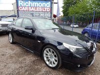 USED 2006 55 BMW 5 SERIES 2.5 523I M SPORT 4d 175 BHP FULL SERVICE HISTORY, GREAT ECONOMY,  ALLOYS, COLOUR CODED CANOPY