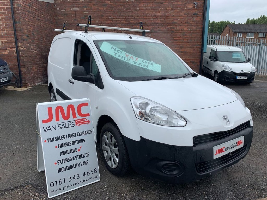 USED 2014 14 PEUGEOT PARTNER 1.6 HDI 90 BHP  NO VAT TO PAY ON THIS VAN 6 MONTHS RAC WARRANTY  40 + VANS IN STOCK SAME DAY LOW RATE FINANCE AVAILABLE