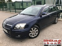 USED 2007 57 TOYOTA AVENSIS 1.8 TR TOURER VVT-I 5d 128 BHP ALLOYS A/C MOT 08/19 SATELLITE NAVIGATION. BLUE WITH GREY CLOTH TRIM. 16 INCH ALLOY WHEELS. COLOUR CODED TRIMS. CLIMATE CONTROL INCLUDING AIR CON. R/CD PLAYER. MFSW. EW. EM. MOT 08/19. AGE/MILEAGE RELATED SALE. TEL 01937 849492 OPTION 4