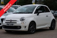 USED 2017 17 FIAT 500 1.2 S 3d 69 BHP MANUFACTURERS WARRANTY + NATIONWIDE DELIVERY AVAILABLE
