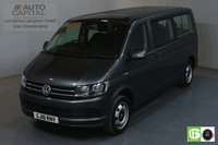 USED 2018 18 VOLKSWAGEN TRANSPORTER SHUTTLE 2.0 T32 TDI 148 BHP LWB 9 LEATHER SEATS MINIBUS AUTO AIR CON EURO 6 AUTOMATIC GEARBOX, AIR CONDITIONING, EURO 6