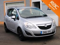 USED 2011 61 VAUXHALL MERIVA 1.7 EXCLUSIV CDTI 5d 128 BHP 5 Service Stamps, Metallic Paint,, cruise control and more