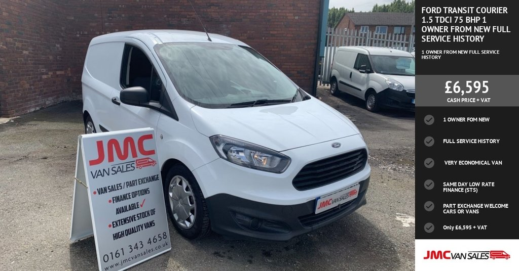 USED 2015 65 FORD TRANSIT COURIER 1.5 TDCI 75 BHP 1 OWNER FROM NEW FULL SERVICE HISTORY 40 + VANS IN STOCK SAME DAY LOW RATE FINANCE AVAILABLE