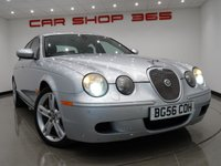 "USED 2006 56 JAGUAR S-TYPE 4.2 V8 R (400 bhp) 4dr AUTO..NAV..2 TONE LEATHERS 18""ALLOYS+R STYLING PACK+NAVIGATION+E/HEATED LEATHERS"