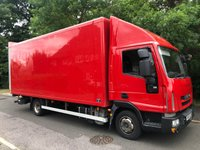 USED 2012 12 IVECO EUROCARGO 3.9 75E18S AUTO 177 BHP 20FT BOX VAN WITH ANTEO TAILLIFT +NO VAT+AUTO+TAILLIFT+1OWNER+