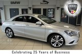 USED 2015 15 MERCEDES-BENZ CLA 2.1 CLA200 CDI SPORT 4d 136 BHP FINISHED IN POLAR SILVER WITH FULL BLACK LEATHER SEATS + FULL MERCEDES BENZ SERVICE HISTORY + SATELLITE NAVIGATION + 18 INCH ALLOYS + £20 ROAD TAX + HEATED FRONT SEATS + PARKING SENSORS + CRUISE CONTROL + AIR CONDITIONING