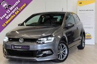 USED 2016 16 VOLKSWAGEN POLO 1.4 TDI BlueMotion Tech 90 R LINE CRUISE CONTROL, R LINE EXTERIOR PACK, PARK PACK, LED HEADLIGHTS WITH DRL, PRIVACY GLASS