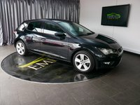 USED 2013 63 SEAT LEON 2.0 TDI FR 5d 150 BHP £0 DEPOSIT FINANCE AVAILABLE, AIR CONDITIONING, AUX INPUT, BLUETOOTH CONNECTIVITY, CLIMATE CONTROL, CRUISE CONTROL, DAYTIME RUNNING LIGHTS, DRIVE PERFORMANCE CONTROL, PARKING SENSORS, START/STOP SYSTEM, STEERING WHEEL CONTROLS, TOUCH SCREEN HEAD UNIT, TRIP COMPUTER