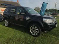 USED 2012 12 LAND ROVER FREELANDER 2.2 SD4 HSE AUTO 190hp BLACK 70000 MILES VERY CLEAN CAR