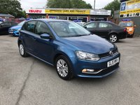 2015 VOLKSWAGEN POLO 1.0 SE 5d 74 BHP IN METALLIC BLUE WITH A FULL SERVICE HISTORY AND 95,000 MILES £5799.00