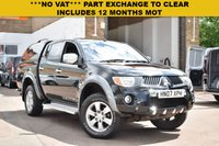 USED 2007 07 MITSUBISHI L200 2.5 4WD LWB WARRIOR DCB 1d 135 BHP NO VAT on this 2007 Mitsubishi L200 2.5did DOUBLE CAB 4x4 with a locking top box. HPi clear with service history and 2 keys.