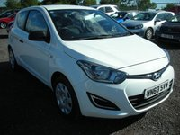 USED 2013 63 HYUNDAI I20 1.2 CLASSIC 3d 84 BHP Cheap tax - Economical 60 mpg average - Recent service and mot